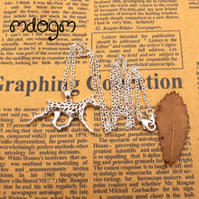 2017 Doberman Necklace Dog Animal Pendant Gold Silver Plated Jewelry For Women Male Female Girls Ladies Kids Boys N022