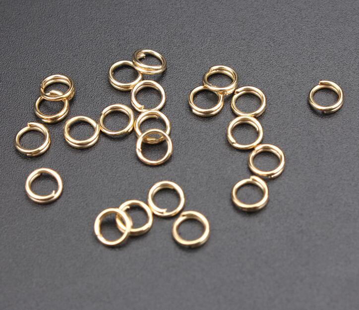 200 Split rings 5mm silver tone