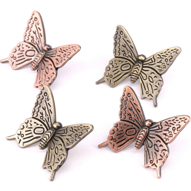8PCS Vintage Style Butterfly Drawer Knobs Cupboard Door Handles ...