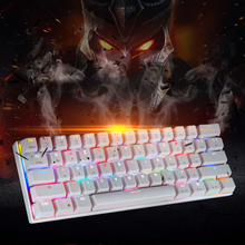 K62 RGB Gaming Mechanical Bluetooth Keyboard 61 Keys LED Backlit RGB Anti-Ghosting Keyboard For Gamer pro wired rgb mechanical keyboard bluetooth wireless cherry switch gaming keyboard double shot backlit keycaps for gamer