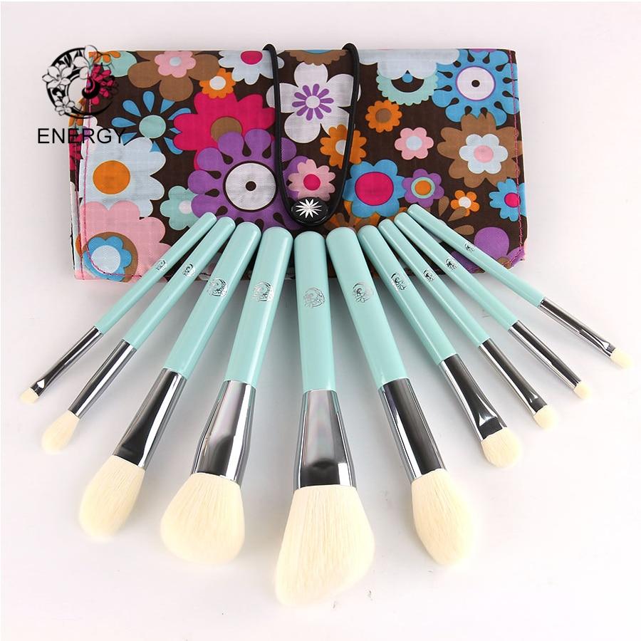 ENERGY Brand Professional 10pcs Makeup Brushes Set Make Up Brush with Bag Pincel Maquiagem Brochas Pinceaux