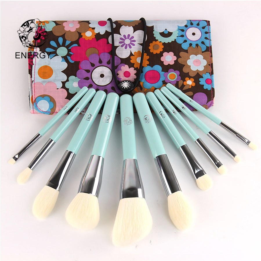ENERGY Brand Professional 10pcs Makeup Brushes Set Make Up Brush with Bag Pincel Maquiagem Brochas Pinceaux Maquillage B11S energy brand weasel small eyeshadow contour brush make up makeup brushes pinceaux maquillage brochas maquillaje pincel m108