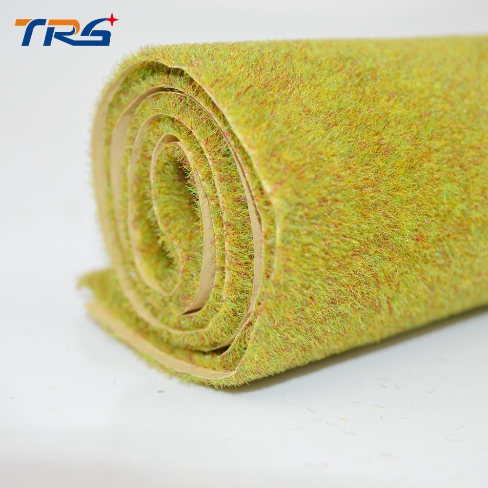 2 esteira artificial da grama da cor verde do outono dos pces 50x50cm para a fatura arquitetônica do modelo