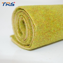 50x50cm Autumn Green Color Artificial  Grass Mat for Architectural Model Making 2pcs