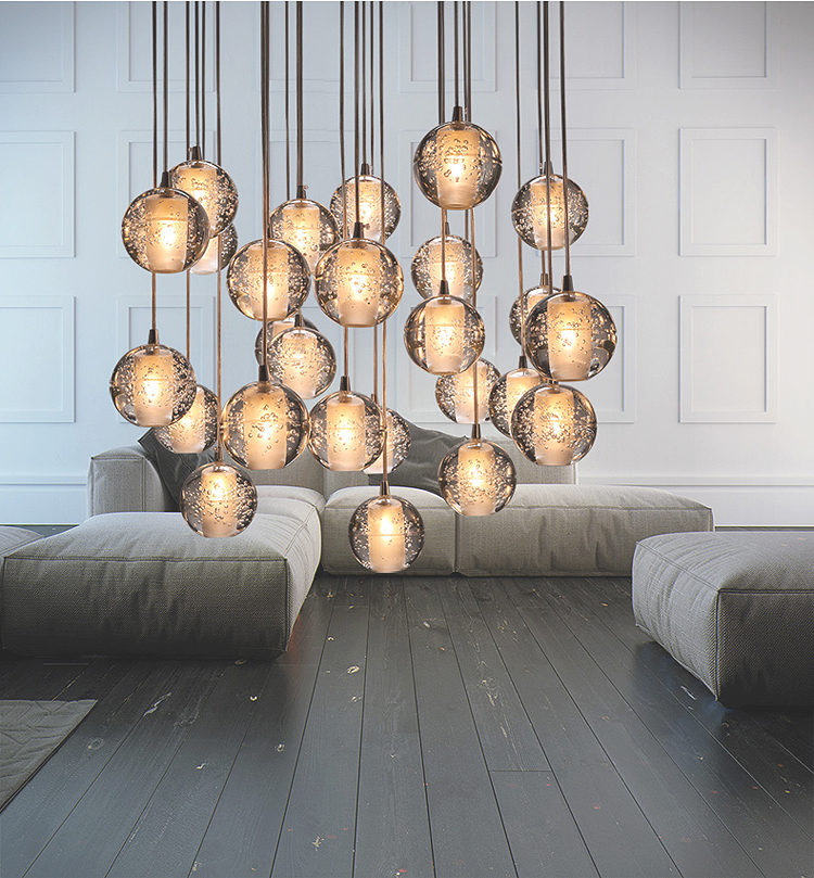 modern stairwell lighting. aliexpresscom buy modern led crystal chandelier magic ball hall lamp loft stair g4 light diy meteor shower lustre pendant 90 260v from stairwell lighting i