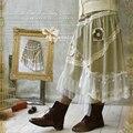 2016 женская Японская Мода Forest Girl Стиль Мори Девушка Будет Пачка Взрослых Liz Lisa Saia Де Лолита Юбка U137