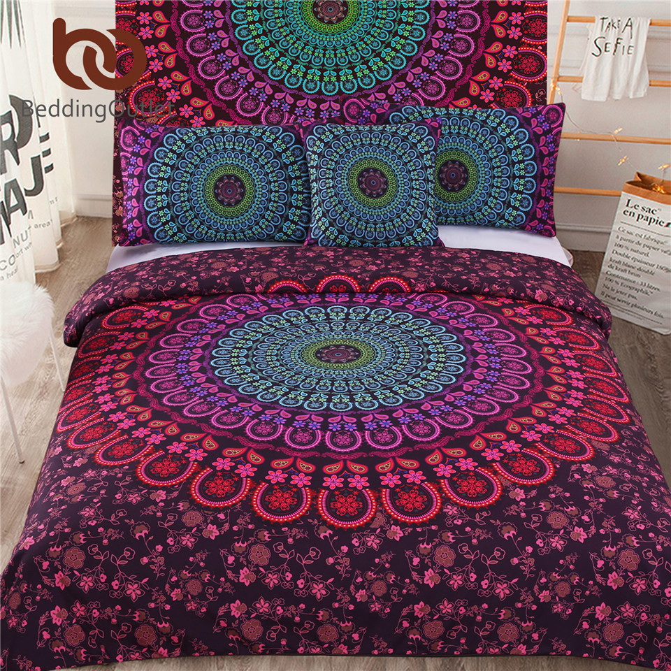 BeddingOutlet 5pcs Bed in a Bag Bedding Set Bohemian Floral Printed Bedclothes Fixed Combination Bed Cover Twin Full Queen KingBeddingOutlet 5pcs Bed in a Bag Bedding Set Bohemian Floral Printed Bedclothes Fixed Combination Bed Cover Twin Full Queen King