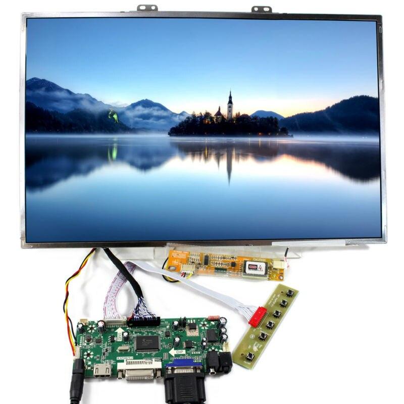 17 cal 1920x1200 PANEL LCD (jeden z B170UW01 LTN170U1 LTN170CT05 LP171WU2) pracy z HDMI VGA DV Audio kontroler LCD pokładzie w Części zamienne i akcesoria od Elektronika użytkowa na  Grupa 1