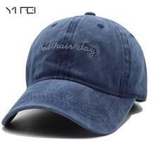 YIFEI Marca de Moda Osso Dia Mau Do Cabelo Das Mulheres Do Vintage Lavado  Boné de Beisebol Cowboy Homens Casquette Snapback Caps. f5fc339dfd1