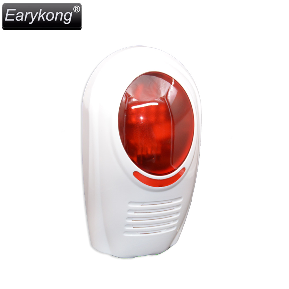 Free shipping 2017 High quality NEW White Wireless Flash Red Light Siren 433MHZ for Home security alarm system high quality ac 360 415v 16a ie 0140 4p e free hanging industrial plug red white