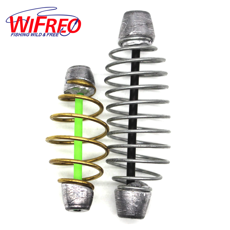 Wifreo 5 Piece 16g 30g Method Lead Bait Feeder Lead Weight Sinker with Inline Tube for Carp Fishing Catfish Angling