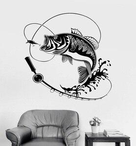 Image 1 - Calcomanía de vinilo para pared para decoración del hogar, caña de pescar, adhesivo para Hobby, Mural, regalo único, papel tapiz Interior 2KN2
