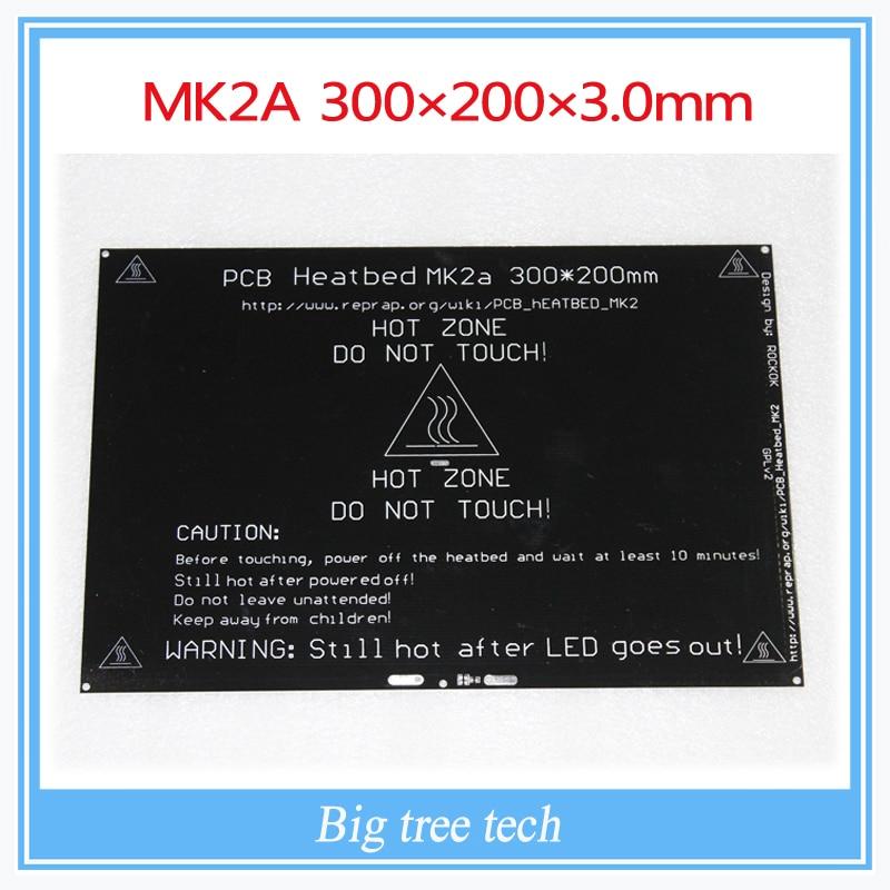 Bigger! 2015 MK2A 300*200*3.0mm RepRap RAMPS 1.4 PCB Heatbed For 3D Printer MK2B