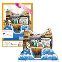 Игрушек! 3D головоломка умный и счастливый Бумажная модель Сделай Сам сборная игрушка Моисей exodos пересечение Красного моря дети история подарок 1 шт