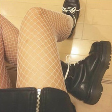 Hsu women's sexy transparent tights Fishnet silk stockings Lady fishnet Mesh thigh high stockings women's casual coolant