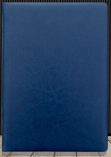 Кожаная обложка бизнес тетрадь для студентов дневник тетрадь A5/A6/B5 сшитая Мягкая обложка - Цвет: Blue