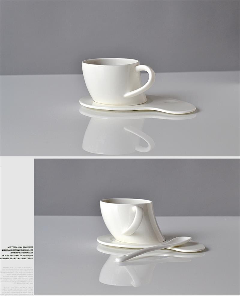 150ML, Plain white quality bone china tea cup and saucer set,  white porcelain cup, wake up coffee mug, mugs for sublimation serveware