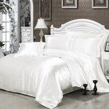 100% puro Tencel juego de cama de algodón juego de cama fundas de almohadas edredón cubierta de la hoja de cama edredón cubrir simple/doble reina completo tamaño