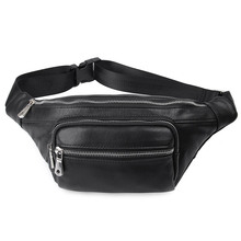 Genuine Leather Men Waist Pack Casual Multi-functions Fanny Pack New Vintage Male Travel Phone Pouch Shoulder Bag 3020A/3020Q