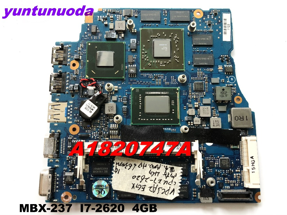 Original for SONY VPCSE MBX-237 laptop motherboard <font><b>I7</b></font>-<font><b>2620M</b></font> 4G A1847510A tested good free shipping image