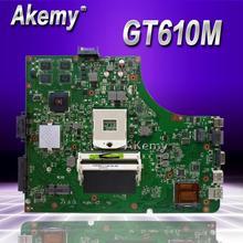 Akemy K53SD Материнская плата ноутбука GT610M/2G REV 5,1 для ASUS K53SD X53S A53S Тесты плата K53SD материнской Тесты 100% ok