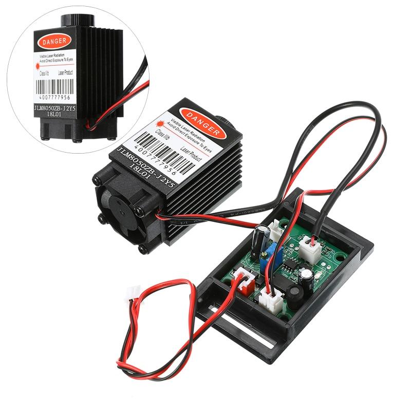 1PC Focusable Infrared IR Laser Diode Dot Module 12V+ TTL+ Fan Cooling Laser Module 500mw 808nm