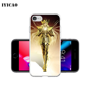 Image 2 - IYICAO Saint Seiya Soft Silicone Phone Case for  iPhone X XR XS MAX 6 6s 7 8 Plus X 5 5S SE TPU Cover
