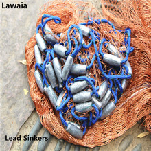 Lawaia Lead Hand Throw Fishing Net USA Style Cast Fly Catch Network