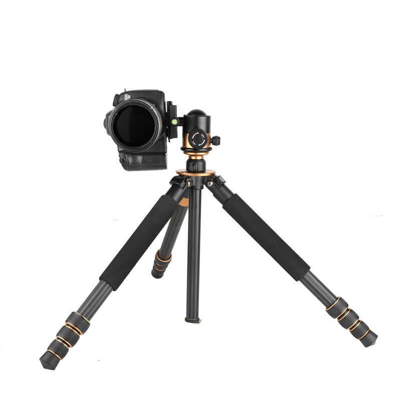 Q1000C углеродного волокна Профессиональный штатив для ЦЗК Q-1000C дорожные штативы для фотографа 45 мм большой панорамный BallHead # 30%