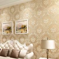 Luxury European Damascus Non Woven 3D Stereoscopic Embossed Wallcovering For Living Room Bedroom TV Background Wallpaper