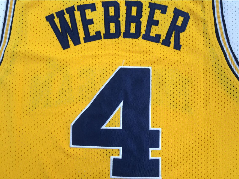 Chris Webber Jersey 4 Michigan College Wolverines Throwback Stitched Commemorative Basketball Jersey All stitched