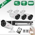 Varifocal 3-10mm Zoom Lens 36IR eletrônico Sem Fio WI-FI 1080 P IP Entrada De Áudio da câmera H.264 8CH Rede NVR Sistema de CCTV 2 TB HDD