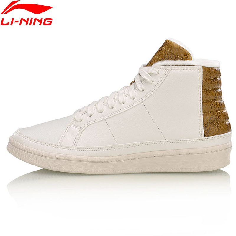 Li Ning Men COMBAT STYLE Winter Basketball Culture Shoes Warm Plush Wearable Sneakers LiNing Sport Shoes