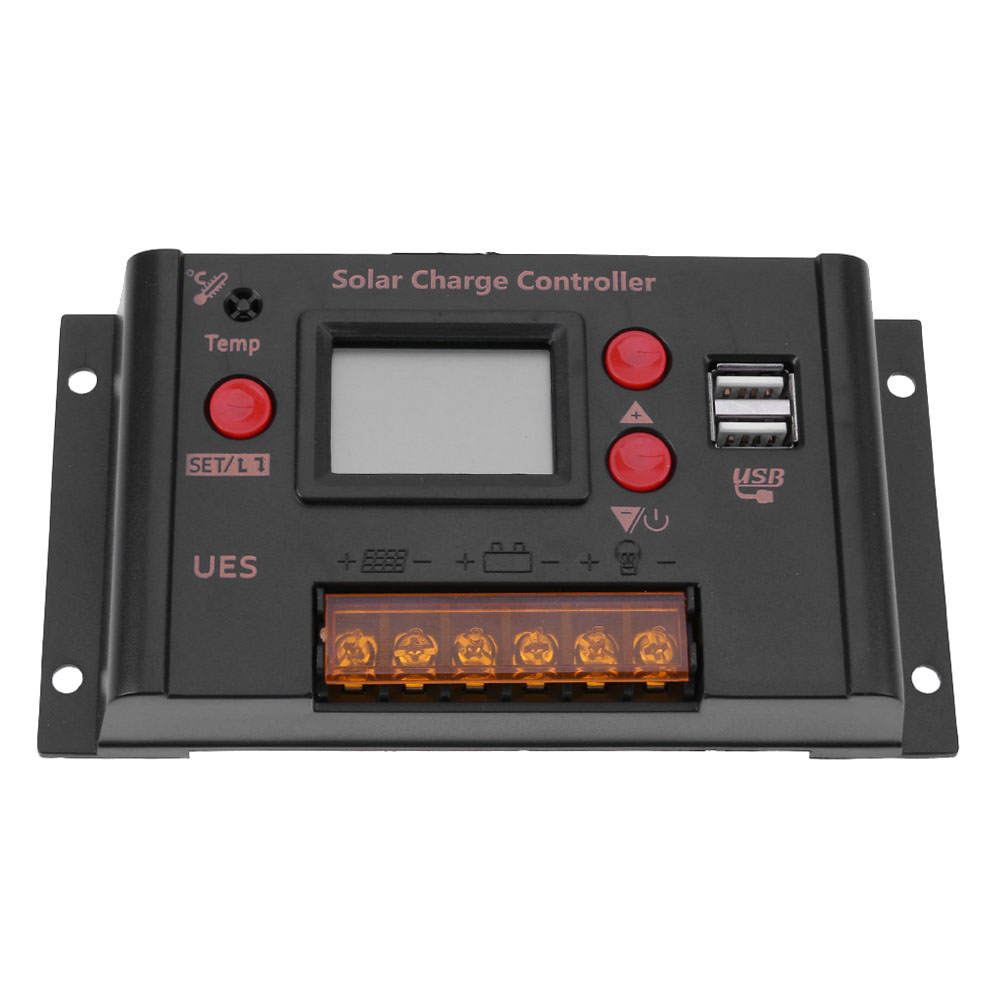 Photovoltaic 10A 12V/24V Solar Power Controller LCD Solar Panel Battery Charge WPC Smart Solar system Controller Kit FREE POST