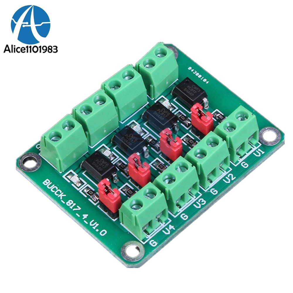 A87 4 Channel Optocoupler Isolation Module High And Low Level Optoisolator For Volume Control Pc817 Pc 817 Board Voltage Converter Adapter 36 30v Driver