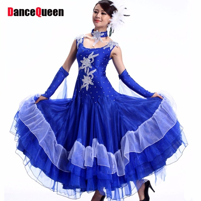 7a9cceb47 Ladies Standard Ballroom Dance Dress Women Stage Costumes For Singers  Practice/Performance/Competition Tanto/Jazz/Waltz Dresses