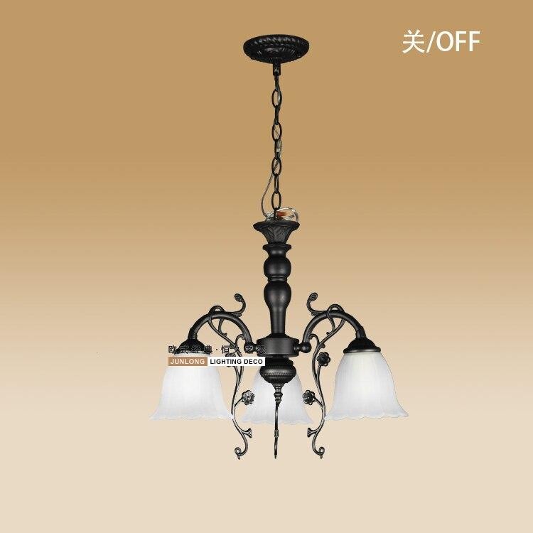 Klassischen Rustikalen LAMPE Mehrere Kronleuchter Beleuchtung Mode Retro Muster Eisen Lichter Wohnzimmer ZZPChina