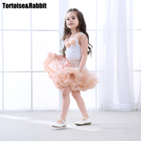 2 יחידות תינוקת אופנה בגדים פרחוניים להגדיר בנות סט חצאית טוטו Pettiskirt רוזטות למעלה נסיכת יום הולדת בנות להגדיר 8 צבעים
