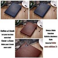 IKASEFU Brand Stylish Retro Smart Case For Kobo Aura Edition 2 6 Inch Coque PU Leather
