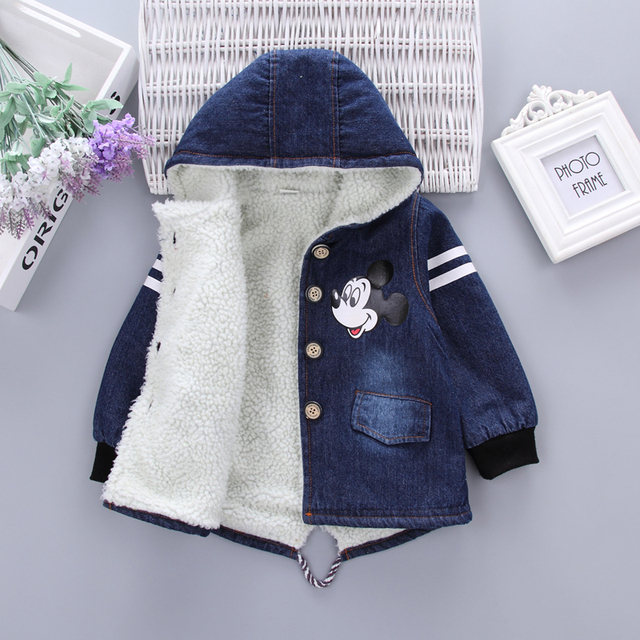 Winter Baby Boys Jackets Girls Cotton Snowsuit Coats Baby Thicken Warm Velvet Parkas Kids Boy Jackets Outerwear clothes