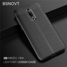 BSNOVT Meizu 16 Case Cover Soft Silicone TPU Leather Shockproof Phone For 16th Bumper 6.0}