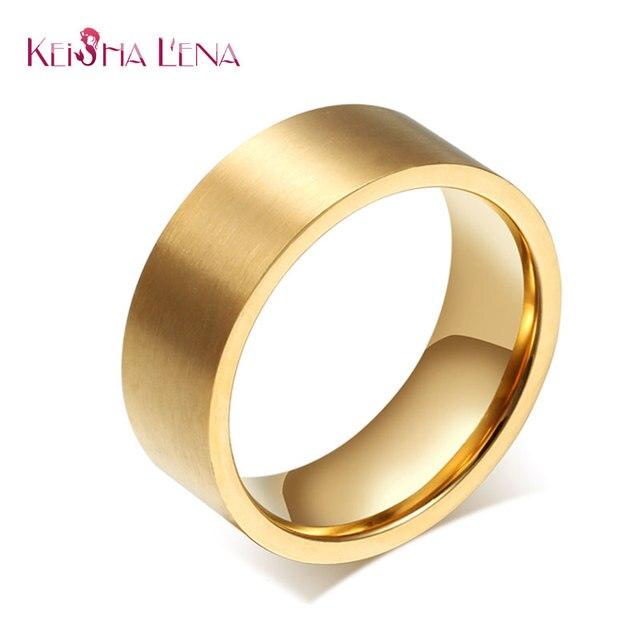 Keisha Lena Mode Einfachen Manner Gold Farbe Dicke Finger Ring