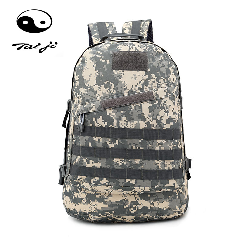Taiji Outdoor Camping Bag Mountaineering Backpack Army Military Tactical Trekking Rucksack Backpack Camo Pubg Level 3 Backpacks