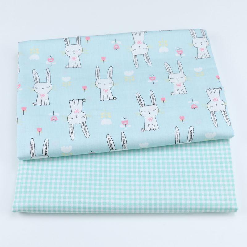 2018 Новый 100% хлопок печатных кролик ткань Лоскутная Ткань для DIY Вышивание квилтинга жира кварталов материал ребенка и ребенка