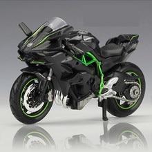 1:18 Kawasaki Ninja H2 R Motorfiets Maisto Diecast Legering Model Speelgoed Zwarte Ninja H2R Motorbike Afneembare Collection