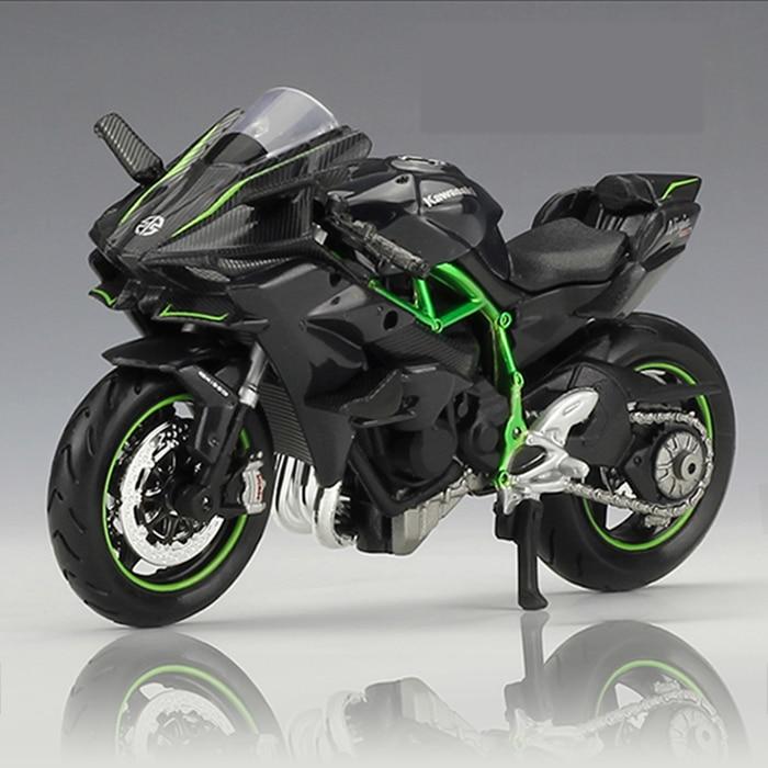 118 KAWASAKI NINJA H2 R motocykl Maisto Diecast zabawkowy model ze stopu czarny Ninja H2R motocykl odpinany kolekcja
