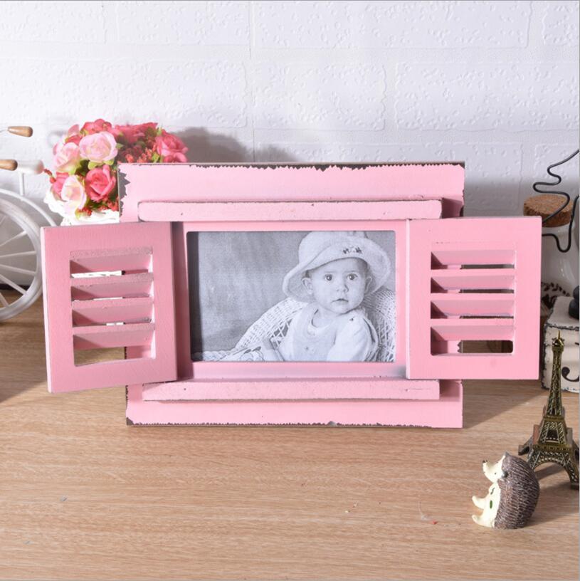 Mediterranean creative wooden Shutters frame 6 inch wooden frame ...