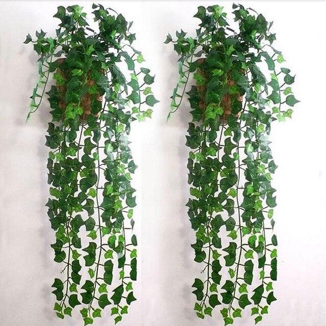12pcs artificial plants green grape vine green leaves fake plant
