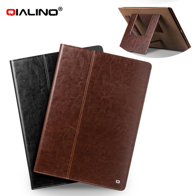 Qianlino Tablet Case For iPad Pro 12.9 Genuine Leather Case Cover Stents Dormancy Stand With Card Slot for iPad Pro 12.9'' Shell seed dormancy and germination