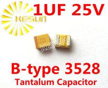 1 МКФ 25 В B тип 1210 3528 SMD Танталовый Конденсатор 105E Разъем TAJB105K025RNJ x100PCS Бесплатная Доставка